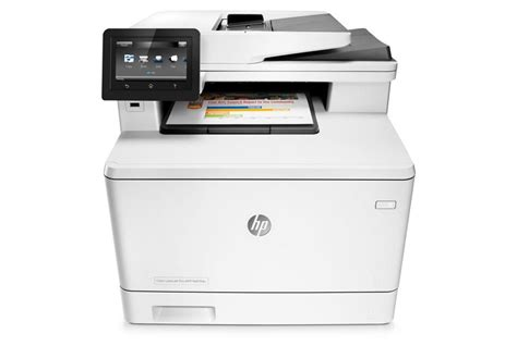 hp color laserjet pro m477fdn a4 colour laser ethernet multifunction printer print copy scan