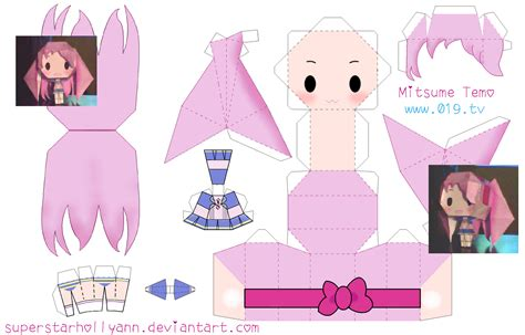 Anime Paper Craft - chibi anime paper crafts