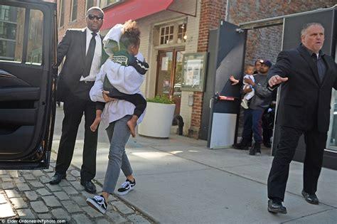 airbnb robbery kim kardashian and kanye west emerge from new york