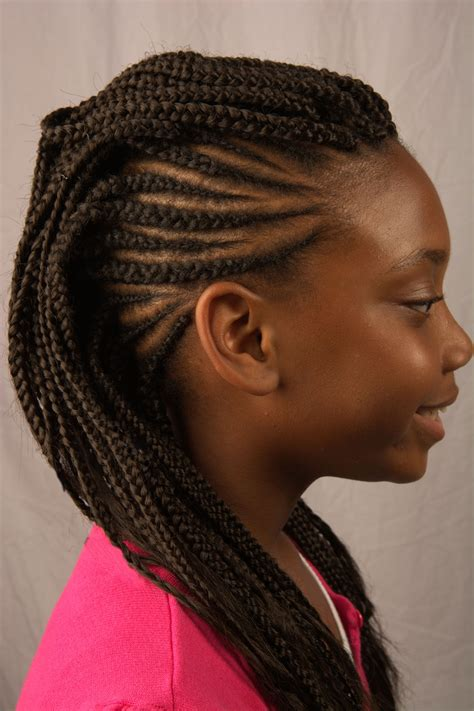 extention braid hairstyles cornrows with extensions for kids natural hair
