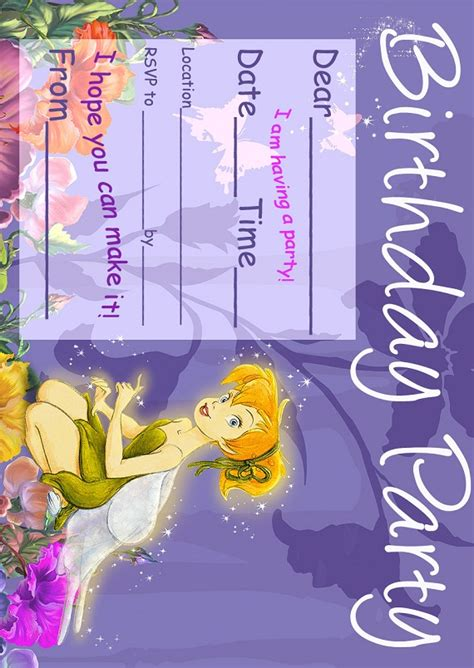 free printable tinkerbell party decorations tinker bell birthday party invitatiion ideas bagvania