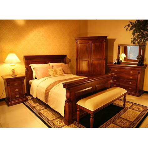 solid mahogany bedroom furniture solid mahogany wood bed empire style queen size antique