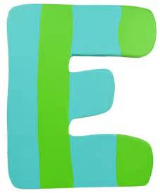 Green amp blue stripe wall letter e modern wall letters by