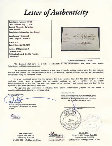 signing a letter sports memorabilia auction pristine auction 1624