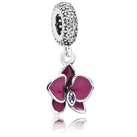 Charm Pandora 791554EN69   Charm Orchidée Argent Femme sur Bijourama, référence des bijoux Femme