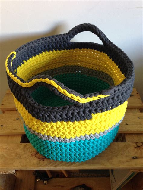 Chompa Handmade - large crochet basket storage laundry basket