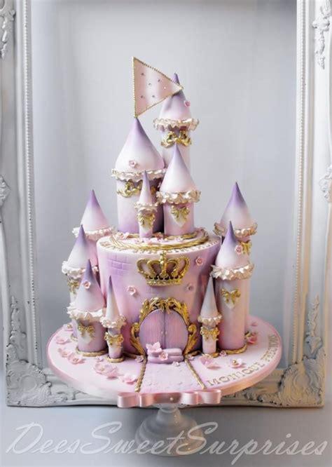 cool princess castle themed cakes princess castle