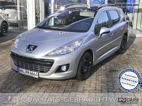 peugeot family car 2012 peugeot family 207 sw 95 car photo and specs