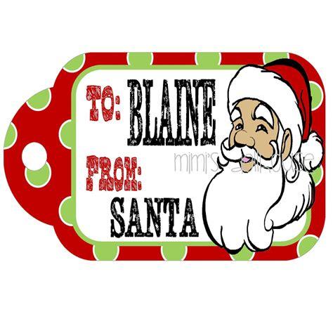 printable christmas present tags from santa items similar to christmas gift tags from santa printable