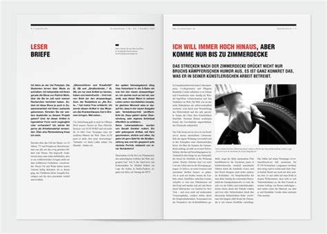 article layout inspiration strassenfeger visual identity and editorial design