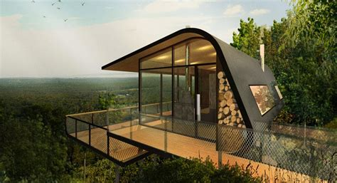 Au Cabins by Aba Conceptualizes Eco Cabins Nestled On Mount Cotton Hillside