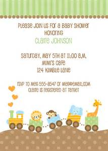 jungle animal baby shower invitations