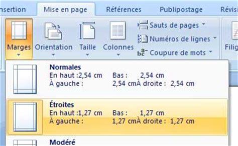 Modèle Cv Mise En Page by Marges Cv Word