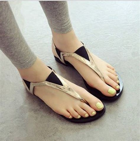 wearing slippers stylish flat sandals with brilliant inspiration in