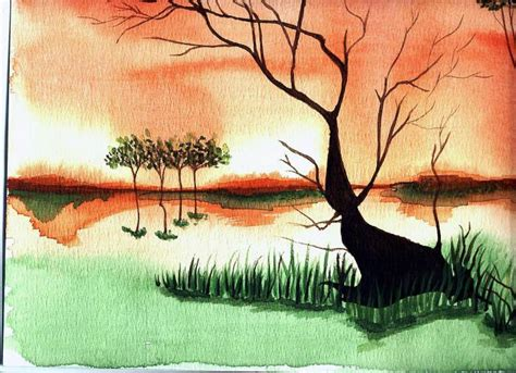 imagenes de paisajes en acuarela paisajes en acuarela faciles imagui