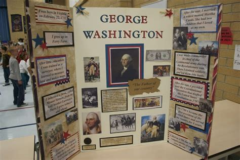 biography of george washington for elementary students book report display wax museum literature ideas