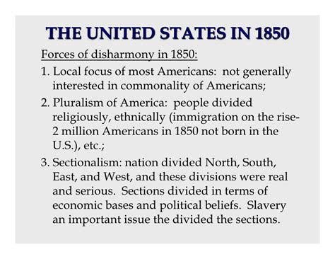 how did slavery cause the divisions of sectionalism 1850s road to secession