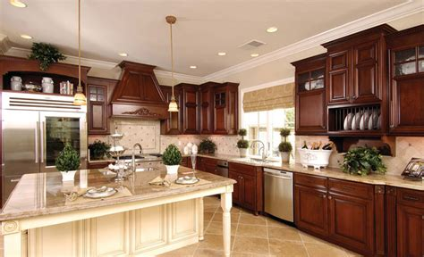 Cherry And White Kitchen Cabinets by Our Cabinets Kitchen Cabinetry San Francisco By