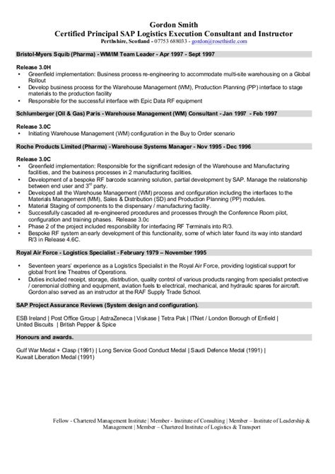 Sap Sd Consultant Sle Resume by Sap Fico Consultant Resume 3 Years Experience 28 Images Sle Resume For Sap Fico Consultant