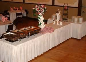 Buffet Table Skirting Designs Buffet Table Set Up Shirred Pleat Skirting