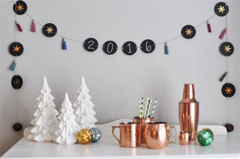 new year banner craft diy new year chalkboard banner tutorial crafts unleashed