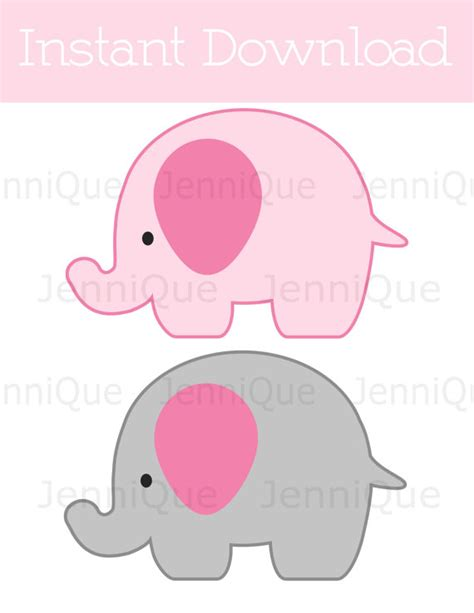 Printable Elephant Decorations Elephant Baby Shower Baby Shower Elephant Template