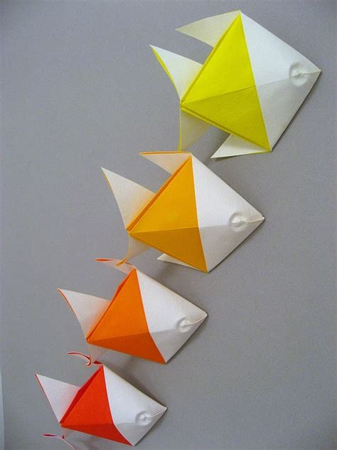 Simple Fish Origami - fish origami inspiration origamis