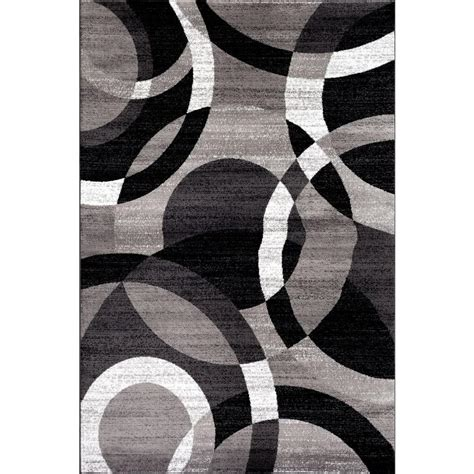 contemporary gray rugs world rug gallery contemporary modern circles abstract gray 3 ft 3 in x 5 ft indoor area rug