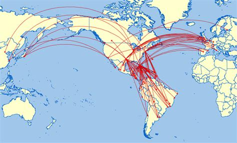 united airlines international route map memes