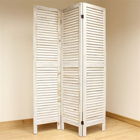 slatted room divider cream 3 panel wooden slat room divider home privacy screen separator partition ebay