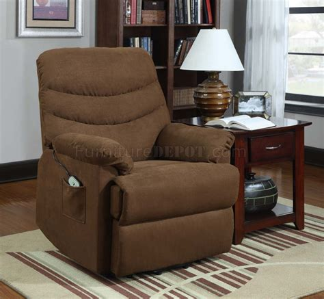 power lift bench elevated power lift chair 9769br in microfiber by homelegance