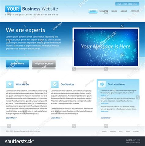 free online home page design blue business website template home page design clean