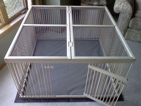 indoor puppy pen top of the line indoor pet x pen ready to finish solid maple with top cover last