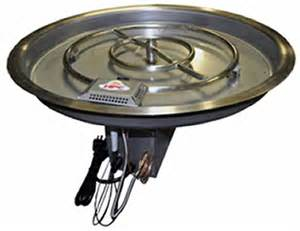 pit burners hearth products controls 42 5 inch stainless steel bowl
