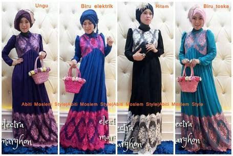 Model Gamis Pesta Yg Elegan busana muslim koleksi terbaru
