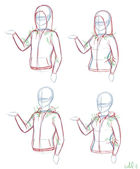 how to draw hoodies hoodie reference references clothing