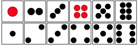 dot pattern on dice usability dice and domino dot convention user