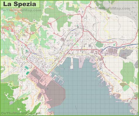 of la spezia large detailed map of la spezia