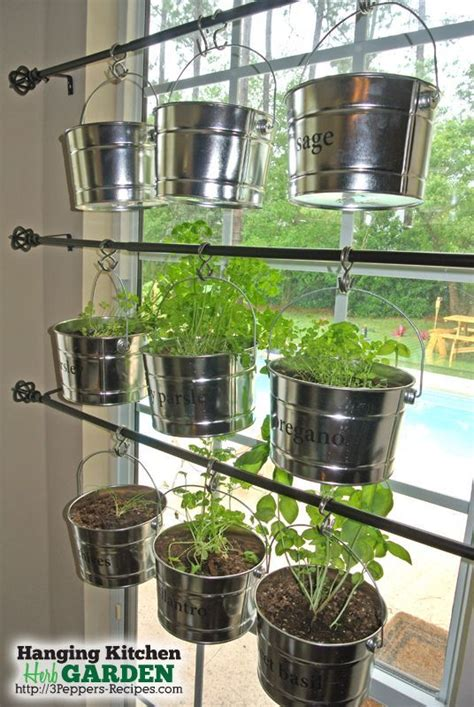 hanging indoor herb garden hometalk hanging kitchen herb garden