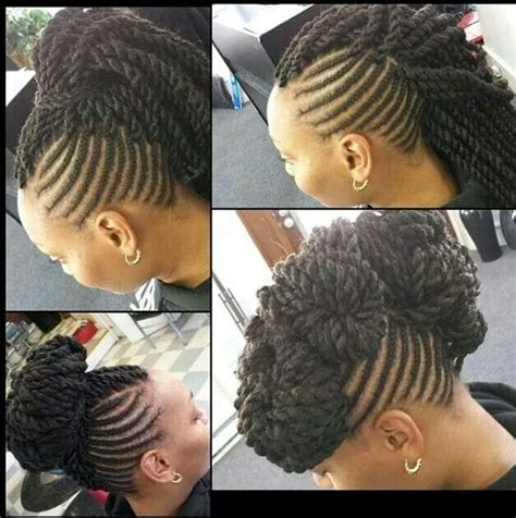 marley hair mohawk style marley twist mohawk hair pinterest follow me posts