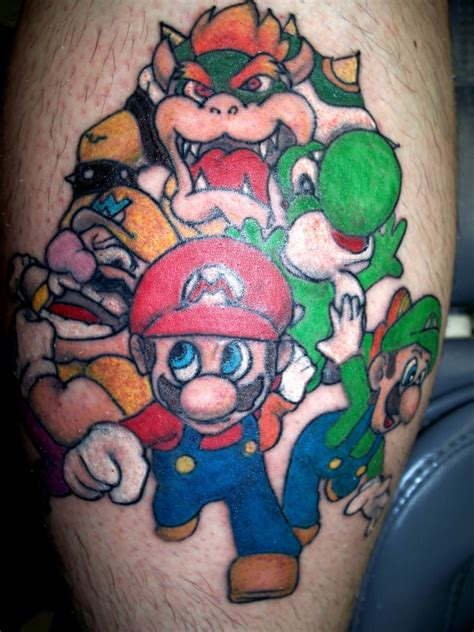 tattoo cartoon mario mario brothers by chachainsaw on deviantart