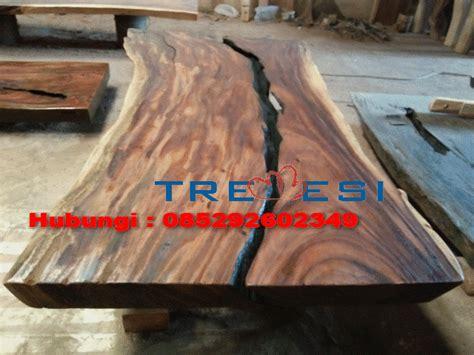 Papan Kayu Untuk Meja meja papan kayu belah tengah kayu trembesi