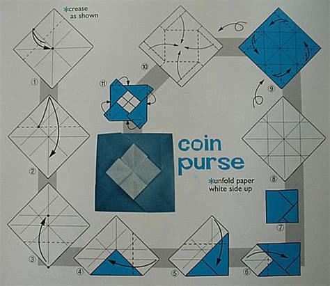 Origami Purse Pattern - origami coin purse pattern search bags and