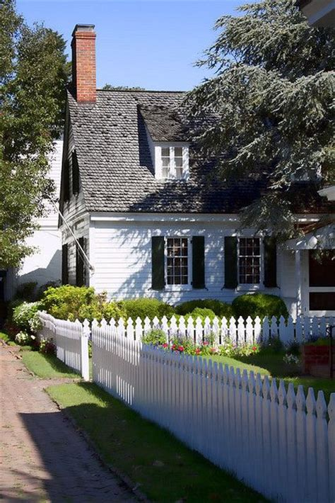 cottage picket fence cottage with picket fence