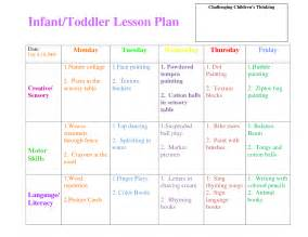 Lesson Plan Template For Infants by Infants Lesson Plan Template Images