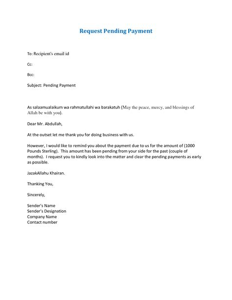 Official Letter Requesting Payment request letter format for outstanding payment letter
