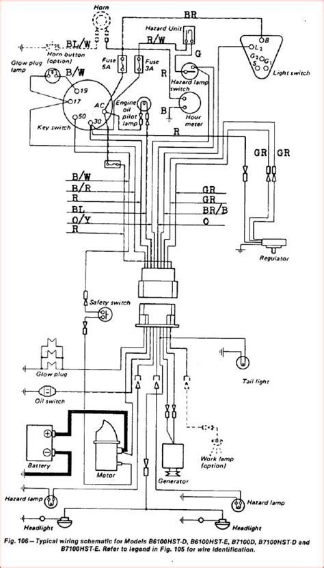 kubota ignition switch wiring diagram images wiring