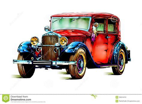 retro cer old classic car retro vintage stock illustration image
