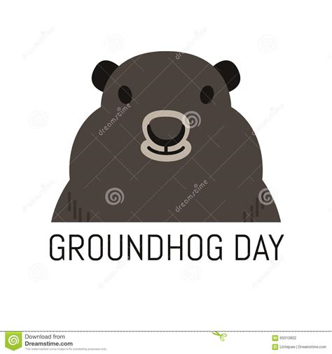 groundhog day karaoke groundhog jour illustration de vecteur du 2 f 233 vrier