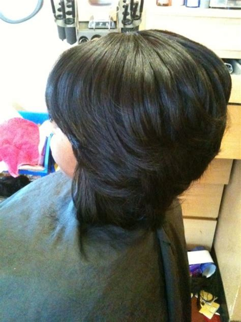 sew in layered bob hairstyles layered bob sew in weave short hairstyle 2013